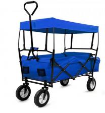 Bolderkar Bagagewagen opvouwbaar met dak blauw