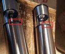 Elektrische Pepermolen en Zoutmolen 2-delige set RVS met schade