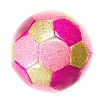 Metallic Voetbal Roze, 15cm