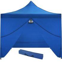 Partytent Easy Up 3 x 3 meter met zijwanden in Blauw