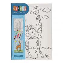 Canvas Schilderset - Giraffe