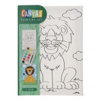 Canvas Schilderset - Leeuw