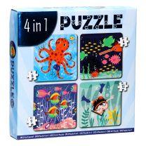 Legpuzzel 4in1 - Onderwaterwereld