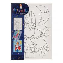 Canvas Schilderen Sinterklaas