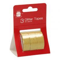 Glitter Tape Goud of Zilver (3x3mtr)