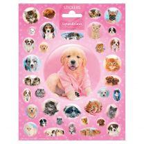 Stickervel Cutie Puppies en Kittens
