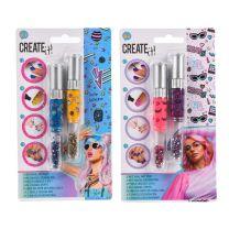 Create It! Nagellak 3in1 Pennen, 2st - Galaxy & Neon