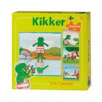De wereld van Kikker Puzzel, 4in1