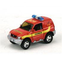 Duitse Pull-Back Brandweerauto met Geluid