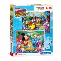 Clementoni Puzzel Mickey Roadster Racers, 2x20st.