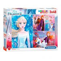Clementoni Puzzel Disney Frozen 2, 3x48st.