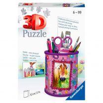 Ravensburger 3D Puzzel - Pennenbak Paarden
