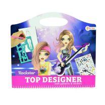 Schetsboek Fashion Rockster met Stickers en Sjablonen