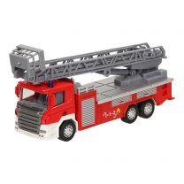 Die-Cast Pull Back Brandweerwagen 1:64