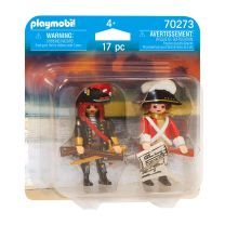 Playmobil 70273 Piratenkapitein en Roodroksoldaat