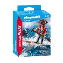 Playmobil 70598 Piraat met Vlot en Hamerhaai