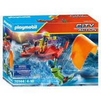 Playmobil 70144 Kitesurfersredding met Boot