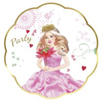 Uitnodigingen Prinses, 6st.