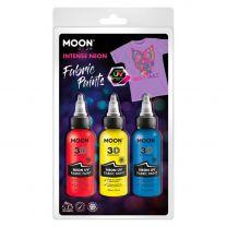 Textielverf Neon 3x30ml - Rood, Geel, Blauw