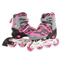 Inline Skates Roze/Grijs, maat 31-34