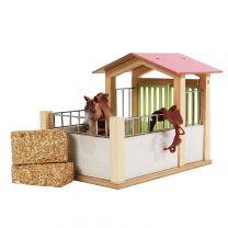 Kids Globe Paardenbox Hout 1:24