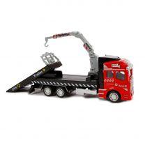 2-Play Die-cast Vrachtwagen Autotransporter met Kraan, 19cm