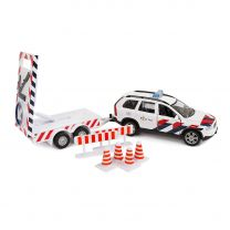 Kids Globe Die-cast Politie Volvo XC90 met Pijlwagen NL
