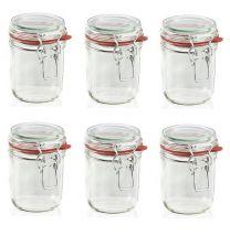 Leifheit 3192 Weckpot met beugel 370ml Glas (set van 6 stuks)