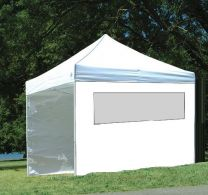 Partytent Easy Up Aluminium 3 x 3 meter met zijwanden in Wit