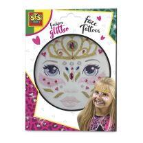 Fashion Glitter Gezicht tattoos -Prinses