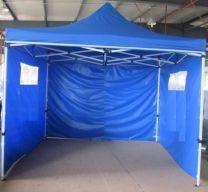 Partytent Easy Up 2,5 x 2,5 meter ALU frame met zijwanden in Blauw