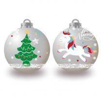 Kinder Kerstballen Eenhoorn, 10x6cm