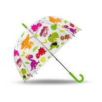 Transparante Paraplu Crazy Dino, 48cm