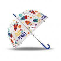 Transparante Paraplu Planeten, 48cm