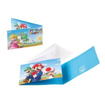 Super Mario Uitnodigingen, 8st.