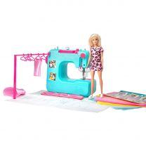 Barbie Naaimachine met Barbie Pop