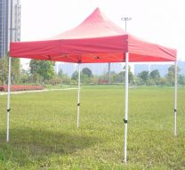 Partytent Easy Up Aluminium 3 x 3 meter met zijwanden in Rood