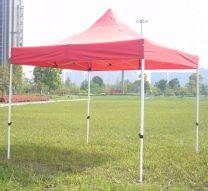 Opvouwbare Partytent 3×3 meter zonder zijwanden in Rood