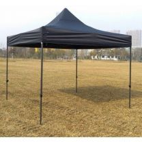 Professionele Easy Up Partytent Alu 4 x 4 mtr zonder zijwanden in Zwart