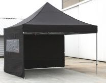 Partytent Easy Up 2,5 x 2,5 meter ALU frame met zijwanden in Zwart