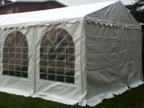 Premium Partytent PVC 4x4x2 mtr in Wit