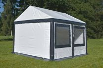 Ultimate Partytent PVC 4x4x2.2 meter in Wit-Antraciet