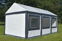 Ultimate Partytent PVC  3x6x2.2 meter in Wit-Antraciet