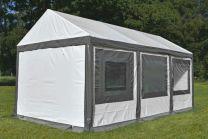 Ultimate Partytent PVC 4x6x2.2 meter in Wit-Grijs