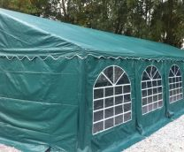 Premium Partytent PVC 6x6x2 mtr in Groen
