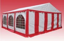 Premium Partytent PVC 6x8x2 mtr in Wit-Rood