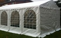Premium Partytent PVC 6x6x2 mtr in Wit