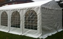 Professionele Partytent PVC 4x8x2,2 mtr in Wit
