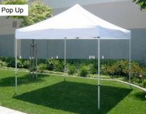 Partytent Easy Up 2,5 x 2,5 meter ALU frame zonder zijwanden in Wit