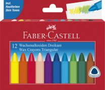 Faber Castell FC-120010 Waskrijt Driehoek 12 Stuks
